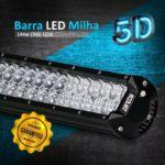 BARRA DE LED 144W 58CM LENTE 5D E LEDS CREE