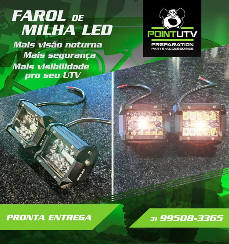FAROL DE MILHA LED PARA X3